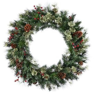 Nisswa Berry Pine Unlit Artificial Christmas Wreath 107 Tips