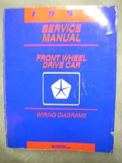 1993 Plymouth Dodge Chrysler Reliant Aries Shadow Daytona Wiring