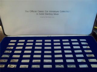FRANKLIN MINT Official Classic Car Miniature Collection 63 Silver