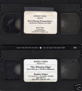 Winning Edge Barrel Racing Eddleman Horse 2 Videos VHS