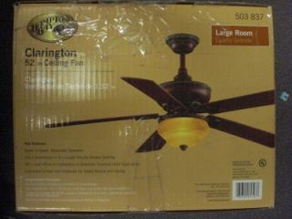 hampton bay clarington 52 ceiling fan light kit a43