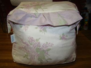 Simply Shabby Chic Lilac Ruffle Full Queen Duvet Cover with 2 Shams
