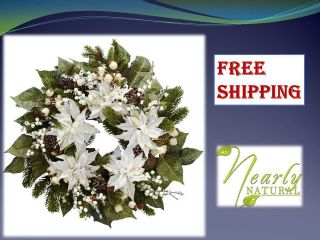 Silk wreath artificial fake plants home flower house plant christmas