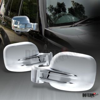 02 07 Jeep Liberty Chrome Side Mirror Covers 03 04 05