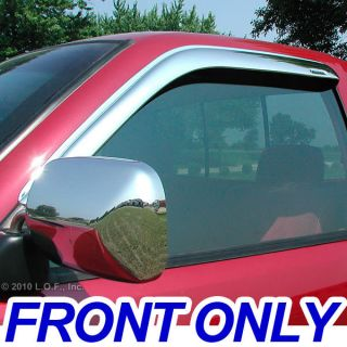 Vent Visors Window Chrome 02 08 Dodge RAM Std Cab Front