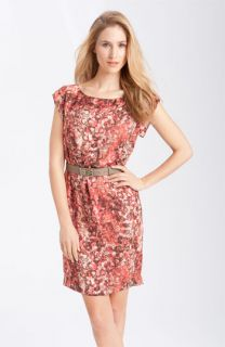 Anne Klein Watermark Print Belted Dress