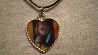 Chucky Doll Childs Play Horror Psychobilly Necklace Halloween Jewelry