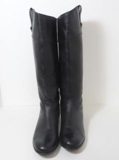 CIAO BELLA Tall Black Leather Riding Boots Shoes Womens 11 EUC