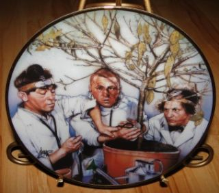 the three stooges tree surgeons franklin mint plate