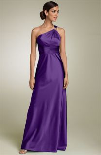 Adrianna Papell One Shoulder Satin Gown