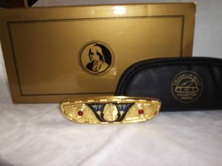 FRANKLIN MINT COLLECTOR KNIFE   EGYPTIAN MASK KING TUT