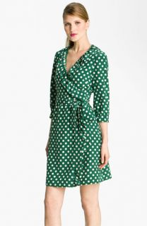 kate spade new york daniella polka dot silk wrap dress