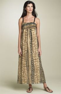 AK Anne Klein Snakeskin Print Maxi Dress