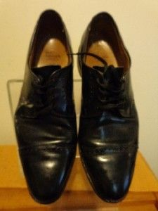 Allen Edmonds Clifton Mens Black Leather Oxford Cap Toe Dress Shoes