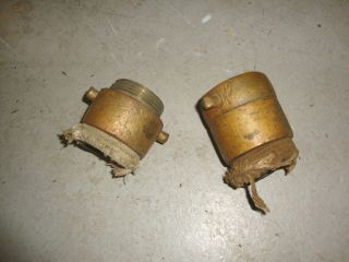 Vintage Brass Fire Hose Couplings Adapters Connectors Fittings