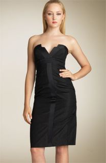 Nicole Miller Strapless Stretch Tuxedo Dress