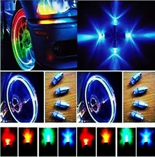 New Color Bike Cycling Motor Car Tire Tyre Valve Cap Stem Wheel LED
