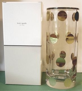 Kate Spade Cloverdale Gold Rose Bowl Vase Crystal