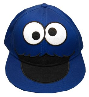 Cookie Monster Sesame Street Jim Henson Face Youth Snapback Flat Bill