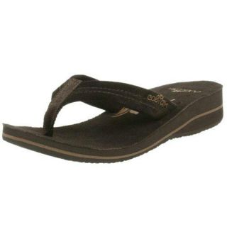 Cobian Tavi Womens Solid Flip Flops Sandals Shoes 7 Medium M Chocolate