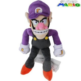 Super Mario Bros Plush Toy Waluigi 25cm Doll Collectible Dolls