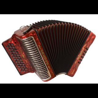 New Hohner Acordeon German Corona II Xtreme Red Y MI EAD 34 12 Button
