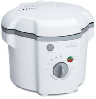 White Rival® 1 Liter Cool Touch 120V Electric Deep Fryer