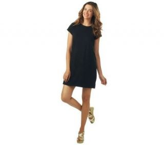 Isaac Mizrahi Live Crew Neck Knit Dress —
