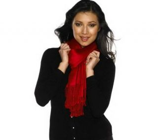 Isaac Mizrahi Live Rayon Twill Oversized Fringed Scarf   A97950