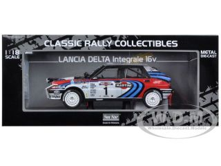 Brand new 118 scale diecast car model of Lancia Delta HF