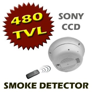 Covert Smoke Detector Alarm Hidden Spy 480TVL Sony CCD Color Camera