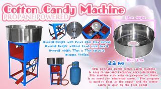 Propane Powered Cotton Candy Machine Commercial Floss Maker Perfect