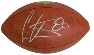 Cris Carter signed Wilson Duke official NFL game football. Item comes