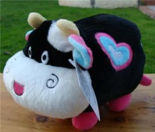 Cute Plush Black Cow Stuffed Animal Valentine Day Gift