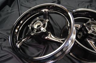 08 09 10 11 Suzuki Hayabusa Black Chrome Wheels Rims
