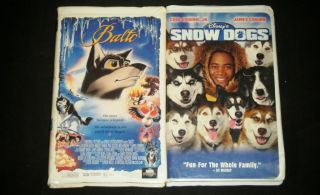 Bacon Snow Dogs with Cuba Gooding Jr Animated VHS Movie Set