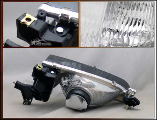 98 99 00 Corolla Sedan Chrome Housing Smoked Lens Headlights Depo