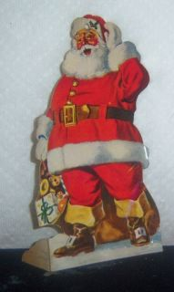 Santa Advertising Ornament Die Cut Bank Christmas Club Bankers Trust