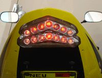 Ducati 1198s Integrated LED Tail Light Smoke Lens 07 10