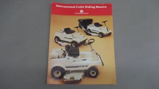 Cub Cadet Sales Brochure Riding Mowers 55 85 85 Bagger