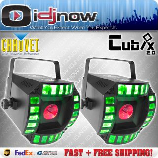Chauvet Cubix 2 0 LED DJ DMX RGB Karaoke Multi Color Lighting Effect 2