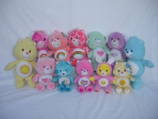 12 Lot Care Bear Cousin Figures 12 to 8 Tall Lamb Plush Sfuff Beanie