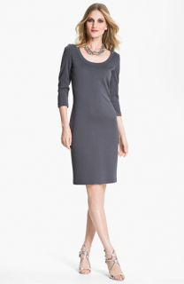 St. John Collection Scoop Neck Milano Knit Dress