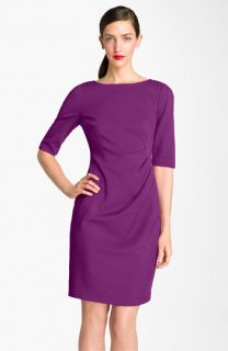 Trina Turk Mariposa Draped Pleated Sheath Dress