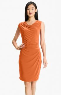 Adrianna Papell Asymmetrical Draped Jersey Dress