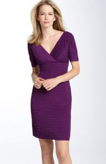 Alex Evenings Shutter Pleat Mesh Sheath Dress