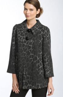 Charles Gray London Leopard Print Swing Coat