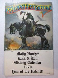 1979 Molly Hatchet Rock Roll Calendar Southern Rock Frank Frazetta