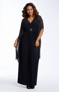 Alex Evenings Sleeveless Matte Jersey Gown (Plus)