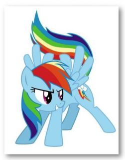 LITTLE PONY FRIENDSHIP IS MAGIC   RAINBOW DASH   Hand Painted Canvas